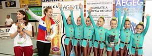 El Club Rítmica Castelldefels, subcampeonas de España