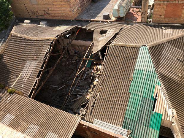 Así ha quedado el edificio tras el derrumbe.