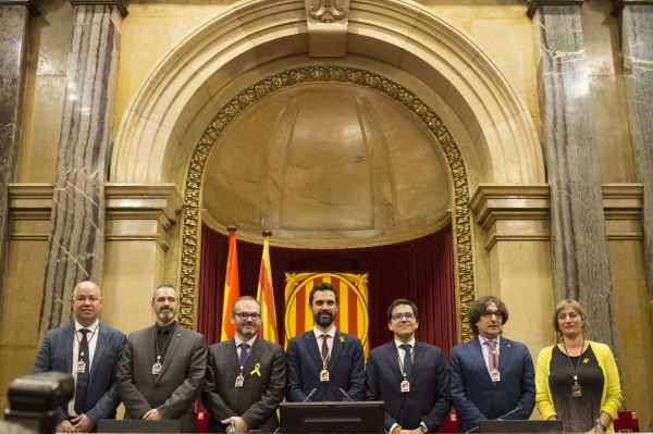 El Parlament de Catalunya ha iniciado hoy, con la constitución de la Mesa, su XII Legislatura