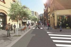 Sant Boi inicia la transformació del carrer Lluís Pascual Roca en un gran passeig urbà