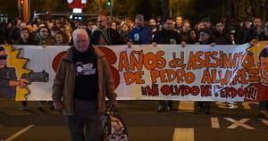 Juanjo Álvarez, en primera línea de la actividad de la Plataforma Pedro Álvarez