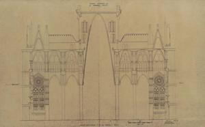 Alguno de los planos que serán digitalizados. En la foto, uno de la Sagrada Familia.