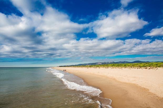 La playa de Viladecans.