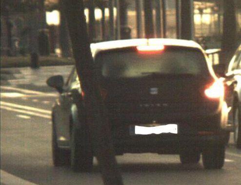 Vehículo denunciado por circular a 109 km/h.