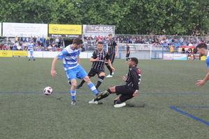 Partido de ida en El Prat, donde ganaron los pratenses por 2 a 1.