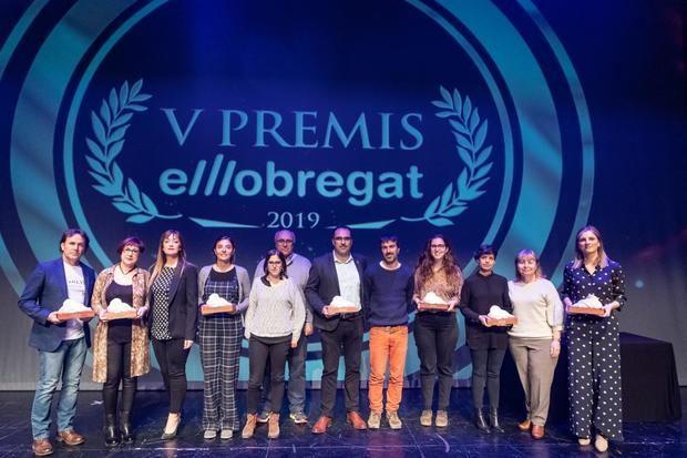 Foto de familia con todos los premiados.