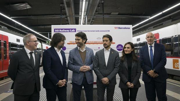 Presentación de la nueva conexión 5G de FGC entre las estaciones de Europa Fira y Pl. España