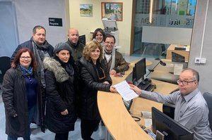 Presentación de la moción de censura, este martes, contra el alcalde del PSC de Sant Esteve por parte de ERC, ARA Sant Esteve y Alternativa Unitària