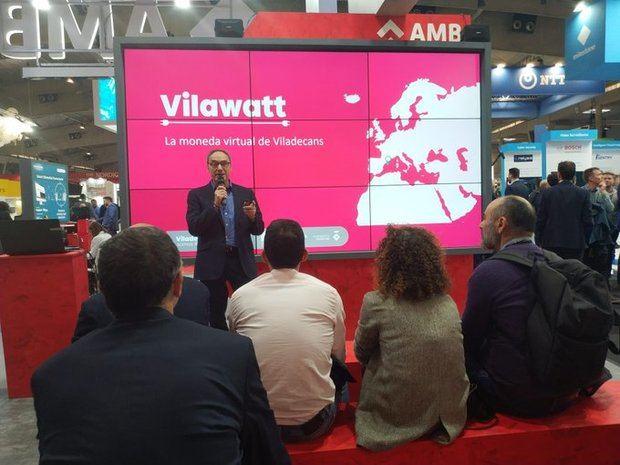 Presentación de la moneda virtual de Vilawatt este martes en el SCEWC