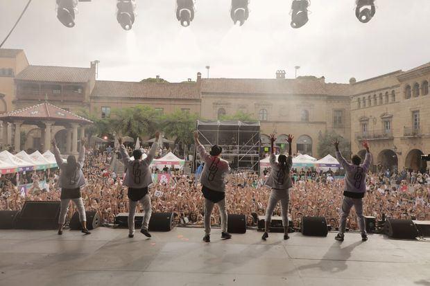 Una actuación durante el SHARE Festival el pasado sábado en el Pueblo Español.