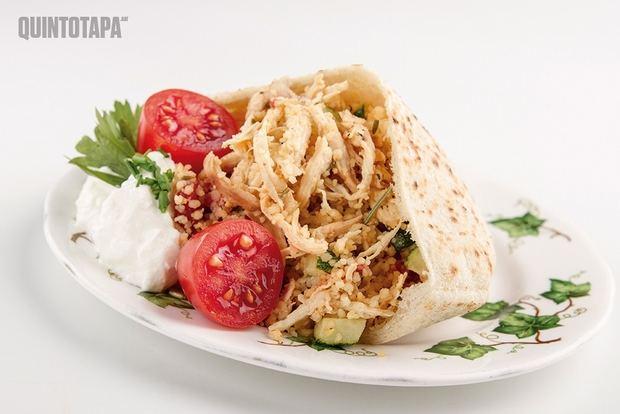 Kebab griego con pimientos de Cal Rosset, uno de los platos que se podrán degustar en esta edición del QuintoTapa en Sant Vicenç.
