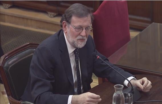 Rajoy declaró ayer como testigo en el juico del 'procés'.
