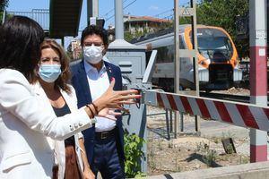 La ministra Raquel Sánchez supervisa los primeros trabajos del soterramiento de las vías en Sant Feliu