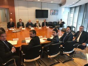 Reunión entre el Departament de Territori i Sostenibilitat, Renfe y Adif.