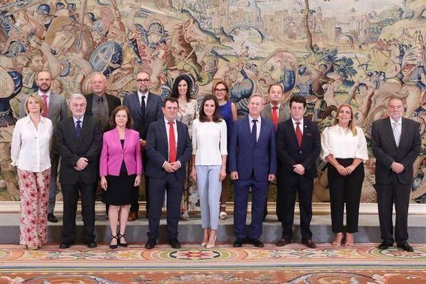 Audiencia de la AEEPP con la reina, celebrada en junio del año pasado.