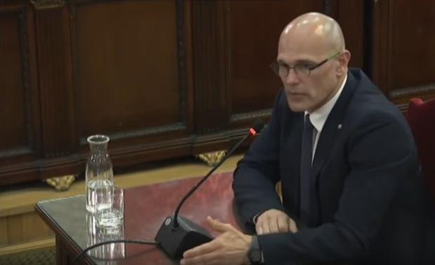 Raül Romeva declara en el juicio.