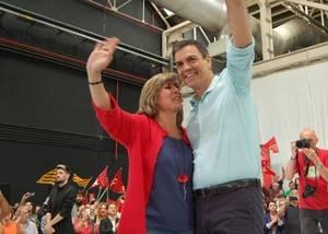 Pedro S�nchez ha centrado su paso por Catalu�a con un macro acto en L'Hospitalet