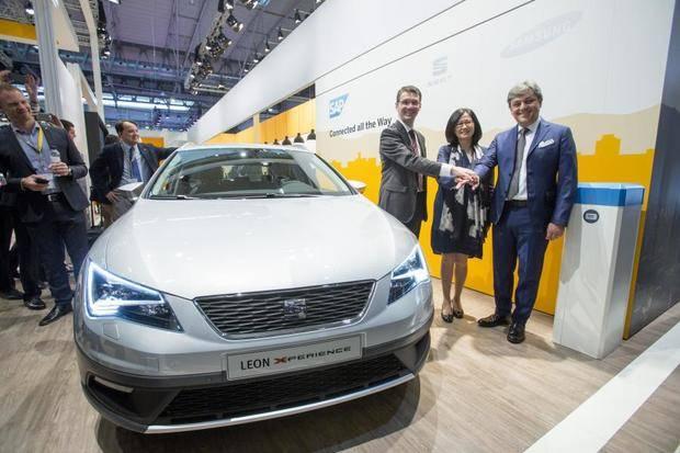 Seat, Samsung y SAP Se acuerdan en el Mobile World Congress crear el coche conectado