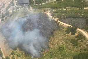 Estabilizado el fuego del parque de La Muntanyeta