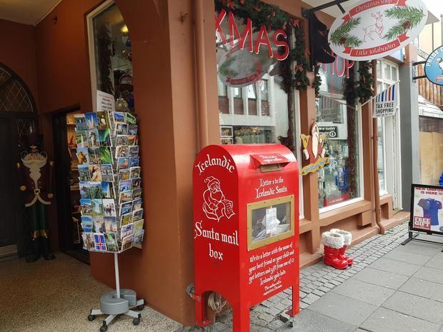 Típica tienda navideña en una de las principales avenidas de Reikiavik.