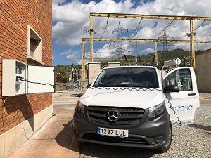 Endesa instala puntos de recarga para sus vehículos comerciales de tracción eléctrica en cuatro subestaciones del Baix Llobregat