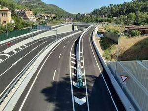 La variante de Vallirana en uno de los puntos donde prácticamente han acabado las obras de la infraestructura