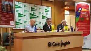 Por orden, Antonio Fornés, Doctor en Filosofía y escritor; José Ángel Martos, editor de Diëresis; y Jesús Vila, periodista y escritor