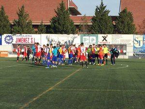 Final del partido entre la UD Viladecans y el FC Andorra.