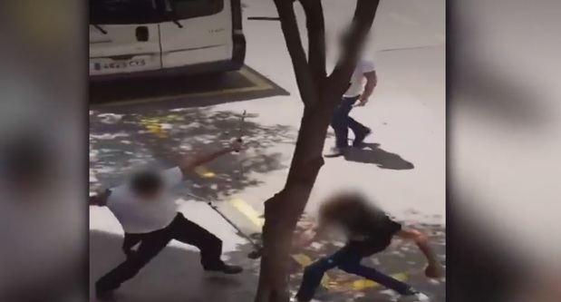 Una escena del vídeo de la pelea de finales de mayo que se ha hecho viral.