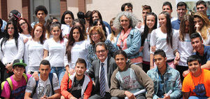 La Fundació El Llindar durante una visita institucional.