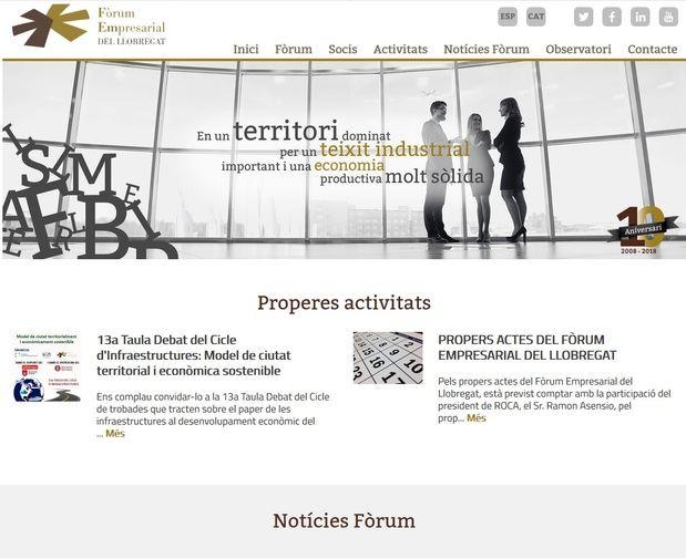 El Fòrum Empresarial del Baix Llobregat celebra 10 años con un cambio de 'look' en su web