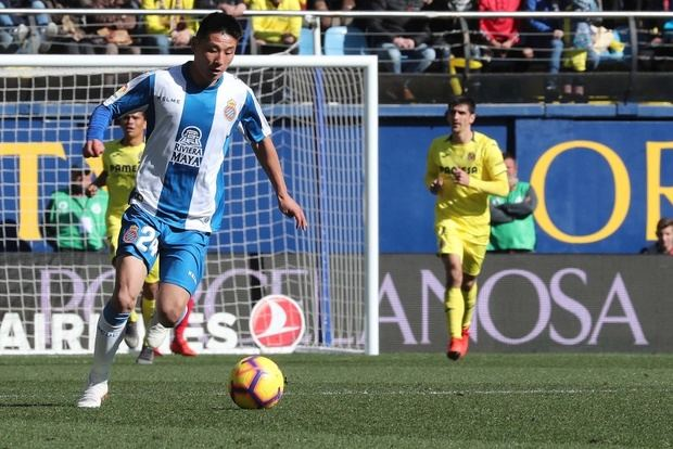 Debut de Wu Lei en el Espanyol ante el Villarreal el pasado domingo.